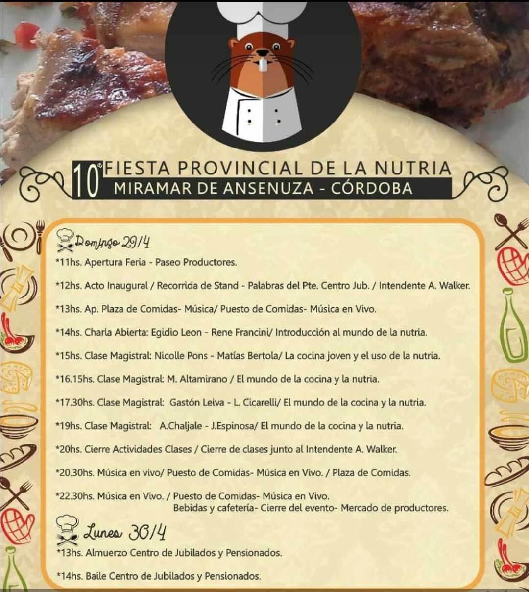Fiesta Provincial de la Nutria en Miramar